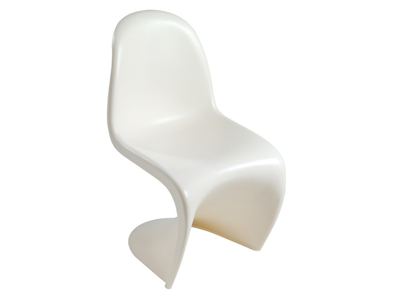 Silla panton plastic chair sillas modernas de dise o for Sillas de diseno blancas