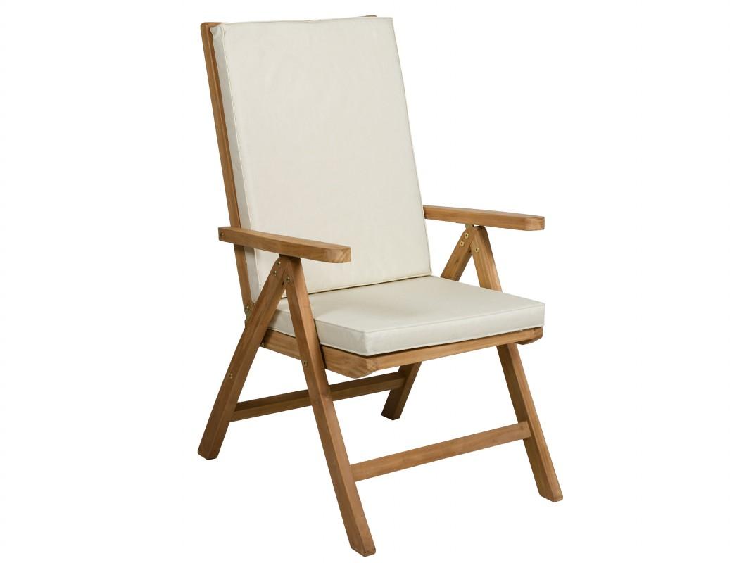 Silla terraza reclinable de madera de teca cat logo jard n for Sillas y sillones para jardin
