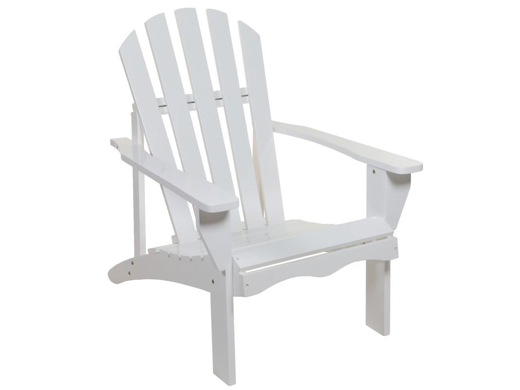 Sill n blanco jard n de madera de lamo silla para for Sillon jardin madera