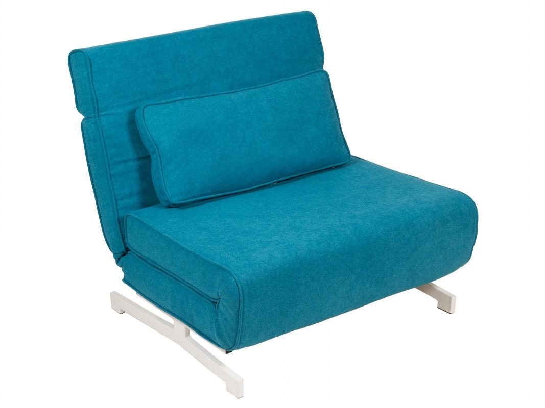 Sillon cama individual con cojin sofa cama 1 plaza azul for Sillon cama individual ikea