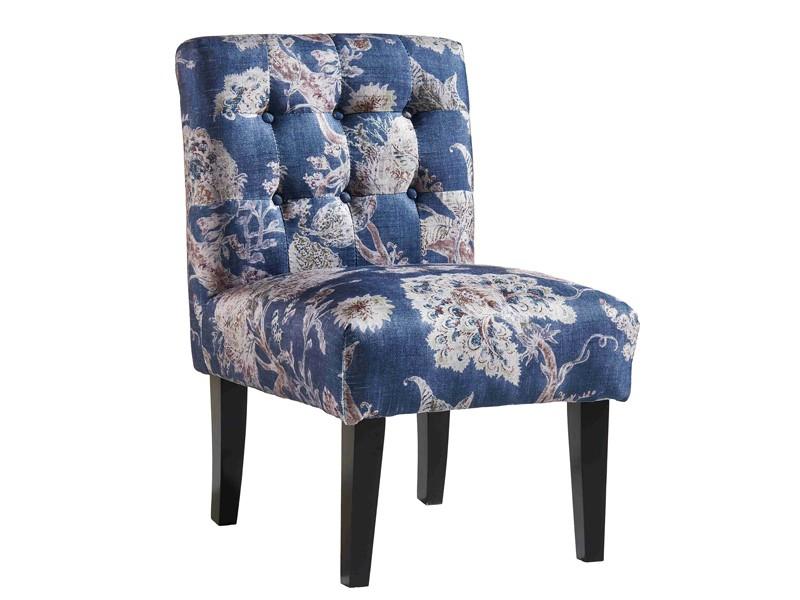 Sill n estampado de flores azul sillones originales - Sillones originales ...