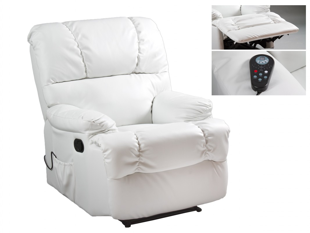 Sill n individual de masaje reclinable con reposapi s - Sillon individual relax ...