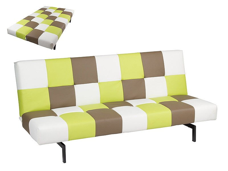 Sof cama cuadros de colores estilo juvenil for Sofa cama para habitacion juvenil