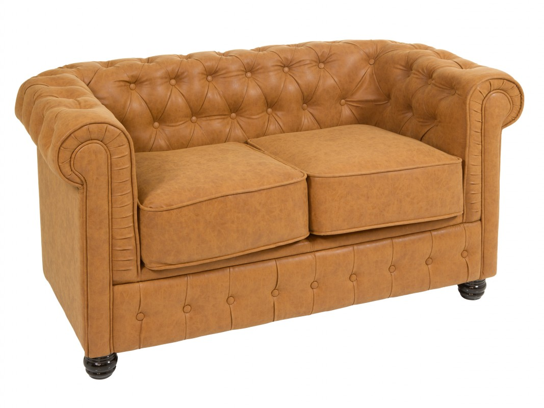 Sof chester peque o de polipiel 2 plazas venta online for Sofa 2 plazas polipiel