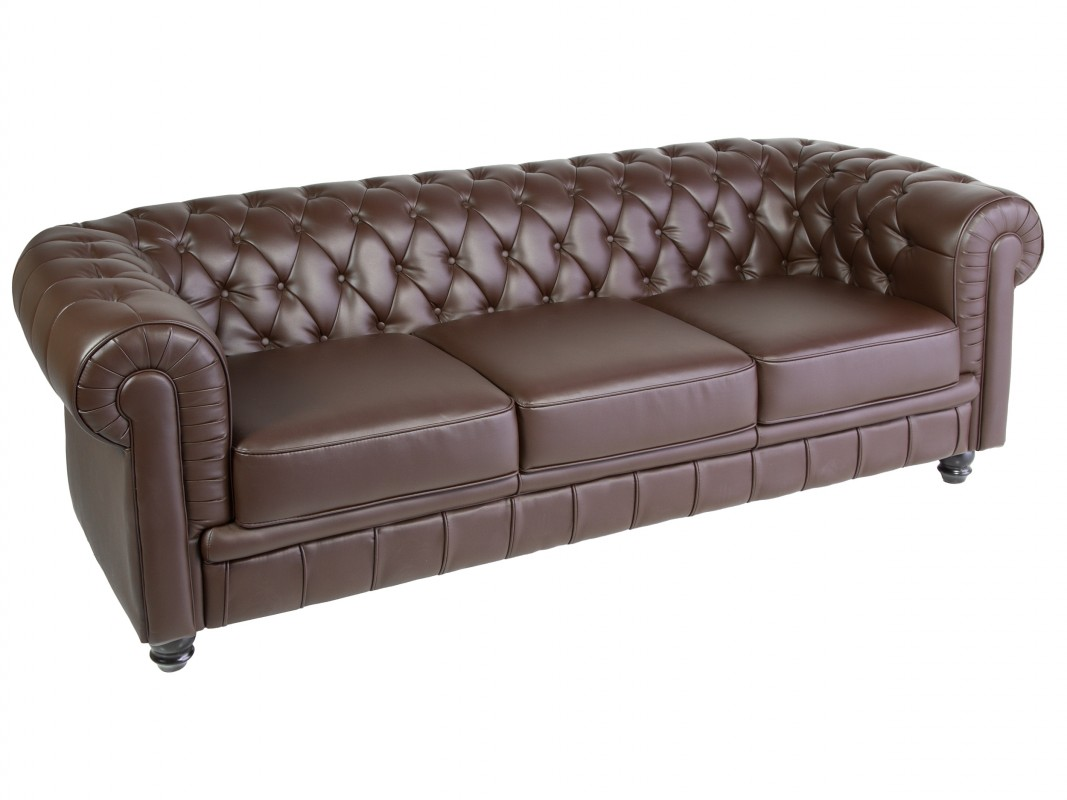 Sof chesterfield cl sico 3 cuerpos for Sofa clasico ingles