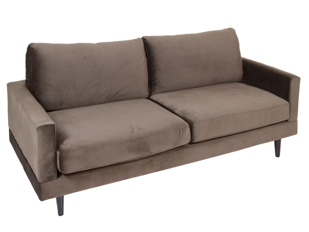Sof moderno dos plazas en color azul burdeos o marr n for Sofa moderne marron gris