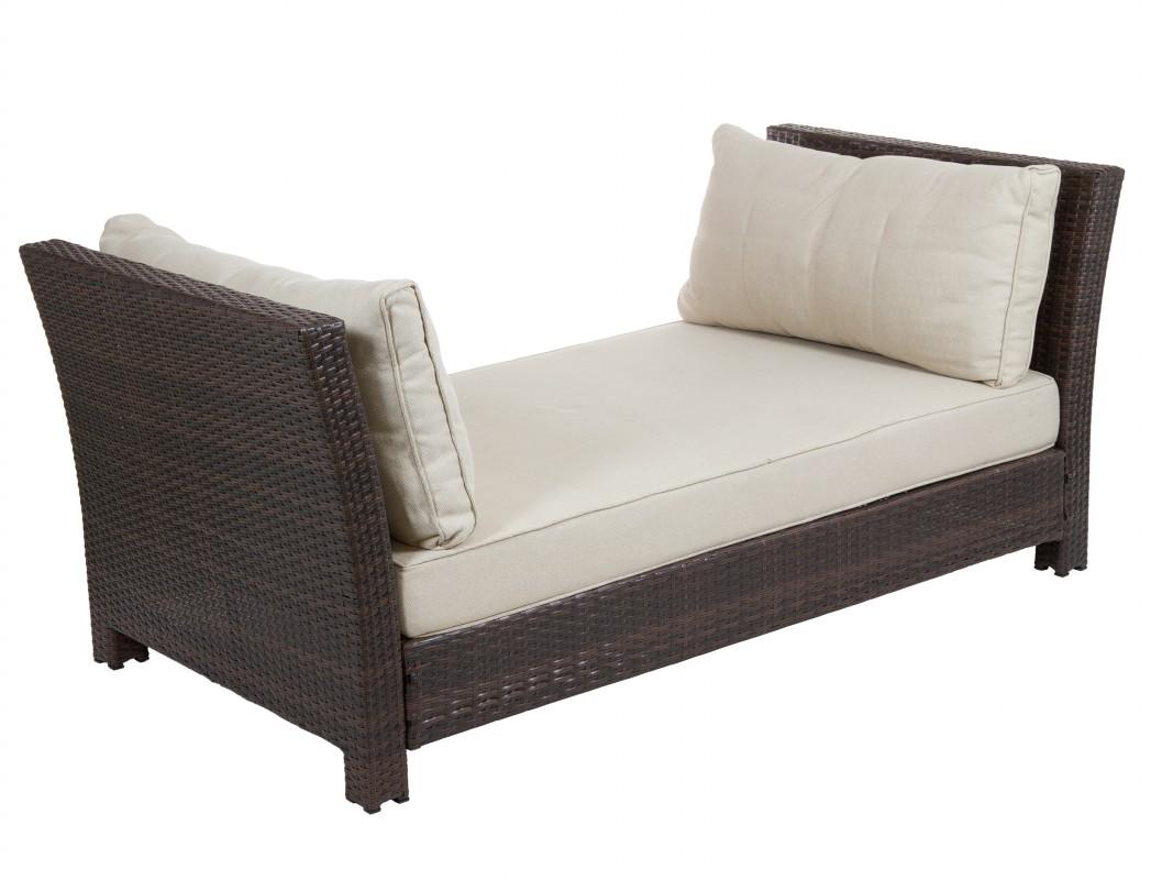 Sofa de rattan sint tico con cojines para interior - Cojines para sofas de jardin ...