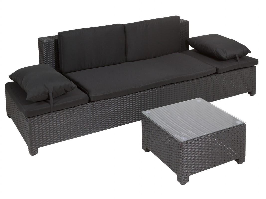 Conjunto terraza rat n sint tico florence 2 plazas for Sofa exterior rattan sintetico
