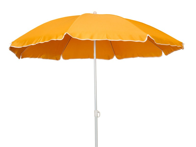 Sombrilla playa parasol aluminio y poli ster naranja - Sombrilla playa ...