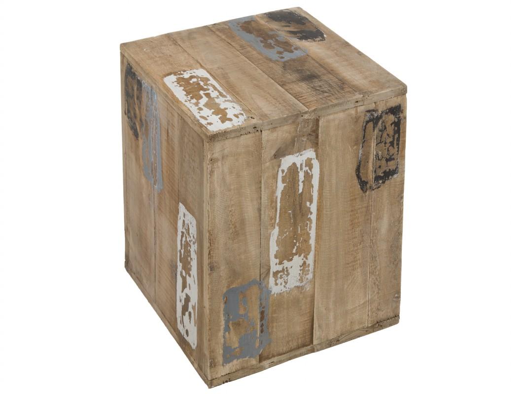 Taburete r stico de madera decapada venta online - Taburetes rusticos ...