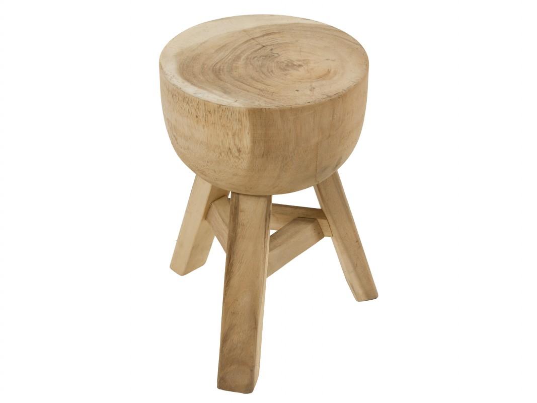 Banqueta circular r stica de madera natural envejecida - Taburetes rusticos ...