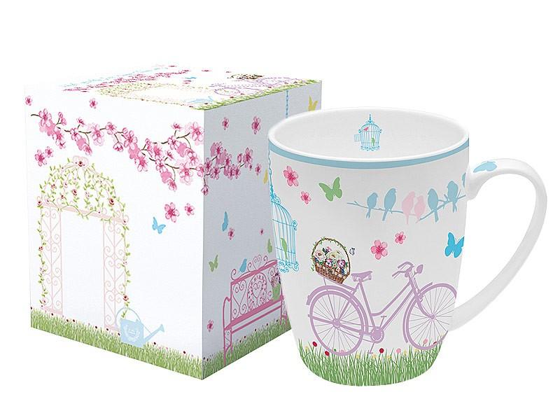 Taza grande para desayuno de porcelana primavera menaje for Tazas para desayuno