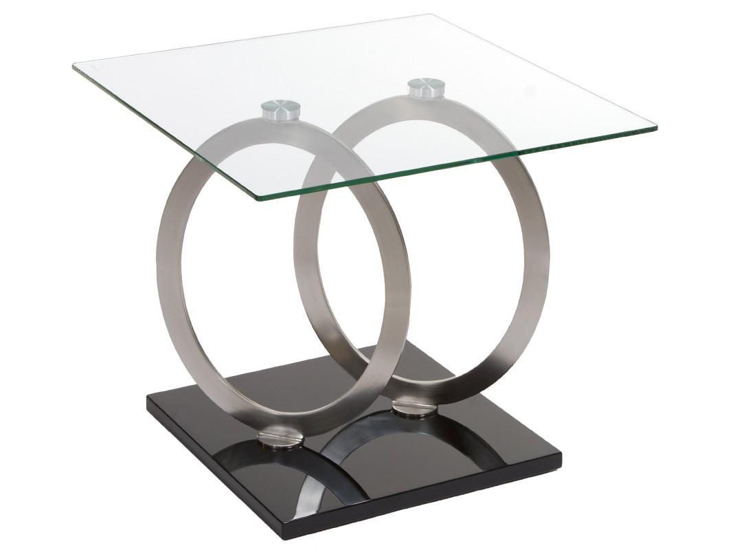 Telefonera moderna cuadrada de cristal y acero venta online for Mesa telefonera