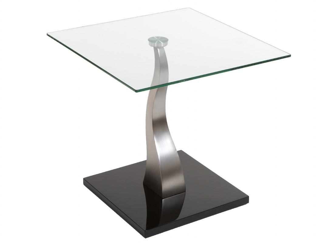 Mesita de cristal telefonera estilo moderno rinconera for Mesas de salon de cristal