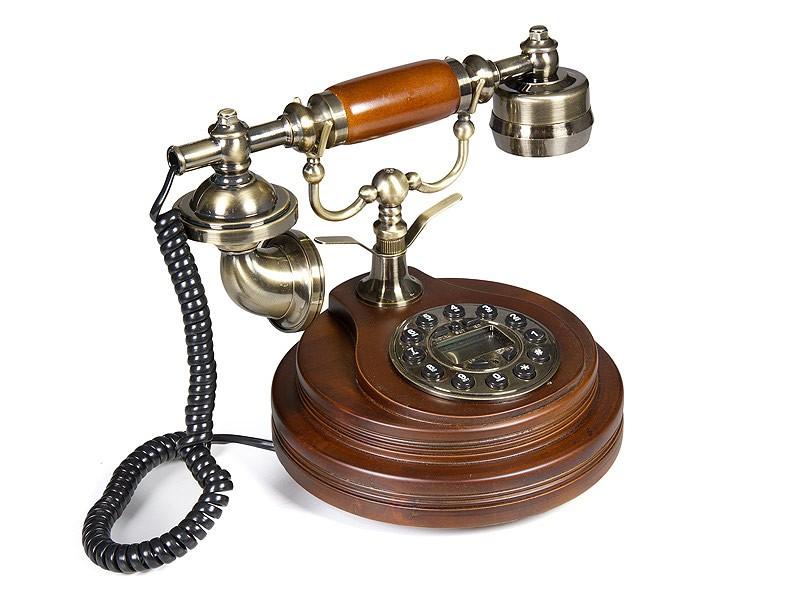Tel fono antiguo de madera pl stico y metal a os 20 for Telefono informacion ministerio interior
