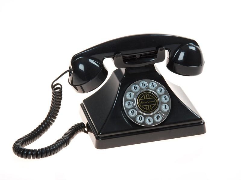 Tel fono de sobremesa estilo vintage en baquelita for Telefono informacion ministerio interior