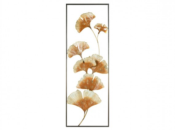 Deco pared metal flores