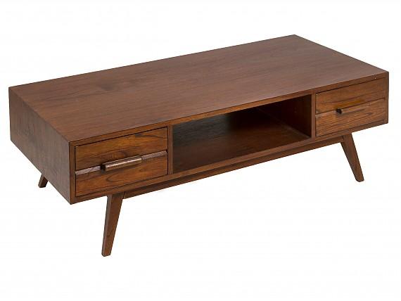 novedades en muebles y decoracin mesa de centro nogal con cajones miami