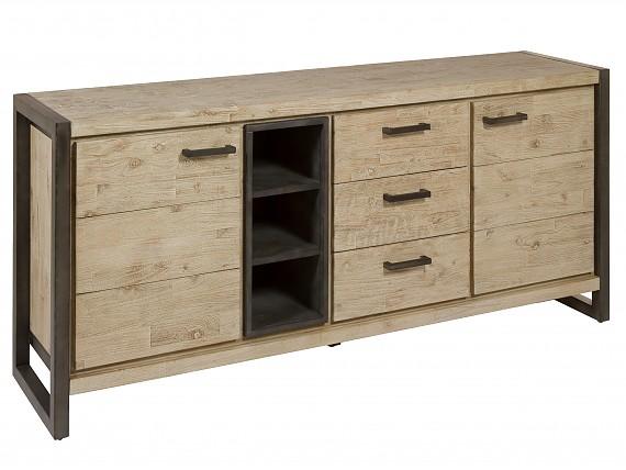 Muebles de hierro y madera de estilo industrial for Muebles de estilo industrial barato