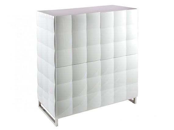 Aparador moderno blanco lacado sin tiradores - Mueble lacado blanco ...