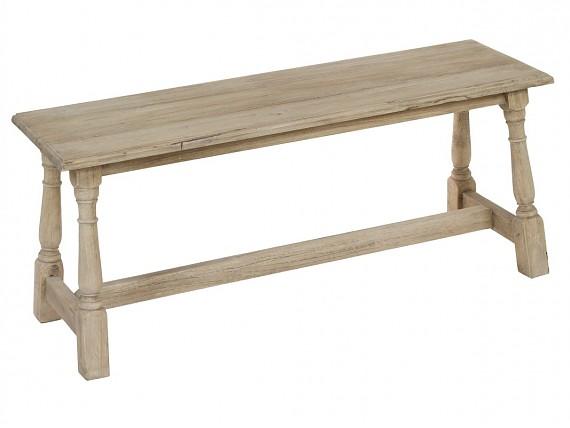 Mesa centro 100x100 vintage de madera decapada con 4 cajones for Mesa banco madera jardin