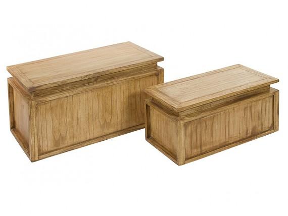Banco baul de madera estilo r stico para pie de cama - Baules baratos madera ...