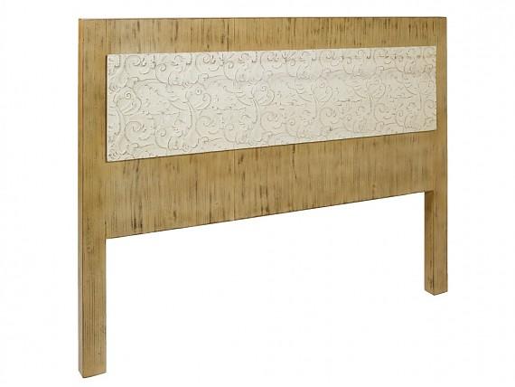 Aparador vintage peque o de madera con acabado envejecido - Cabeceros madera vintage ...