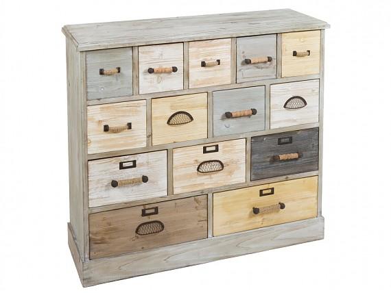 Muebles decapados en madera o metal de primera calidad - Cajoneras pequenas ...