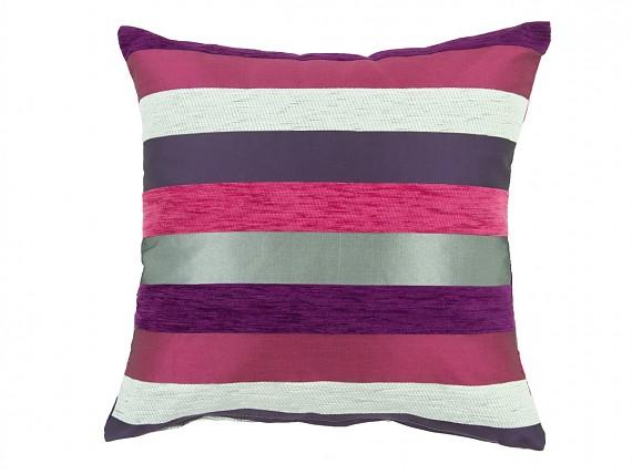 Coj n alargado rayas rosa y p rpura venta cojines online - Cojines on line ...