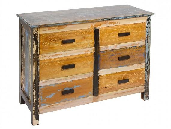 Escritorio colores industrial de madera decapada de mahogany - Comodas diseno ...