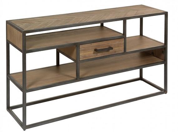 consolas de hierro y madera recibidor metal y madera On consola de tipo industrial