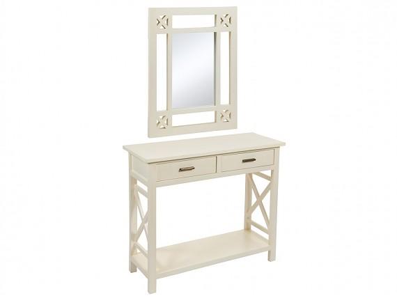 consola de entrada con espejo estilo nrdico