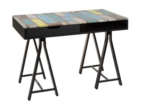 escritorio con cajn colores retro - Escritorios Modernos