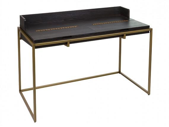Mesa centro elevable negra de dise o contemporaneo con - Mesa escritorio negra ...