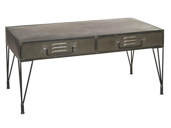 Sofa cama clik clak de tres plazas con patas de madera for Escritorio industrial vintage
