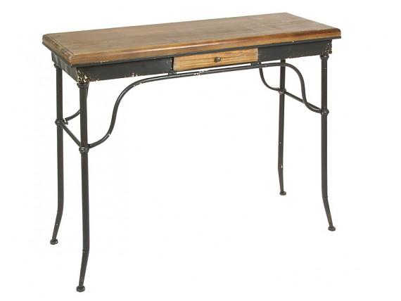 Muebles decapados en madera o metal de primera calidad for Escritorio industrial vintage