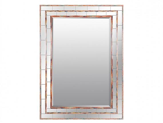 Espejo marco dorado lacado para pared espejos online for Espejo con borde biselado