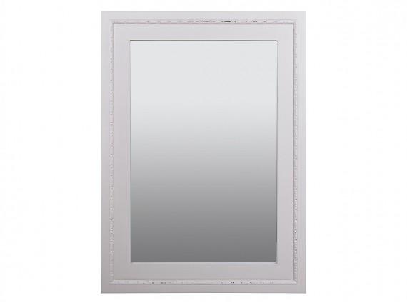 Mueble perchero recibidor con puertas y estante vintage for Espejo blanco envejecido