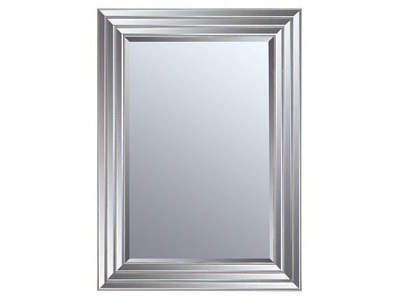espejo con marco biselado plata