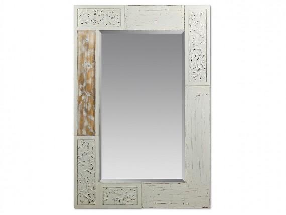 espejo clsico blanco con marco decorado