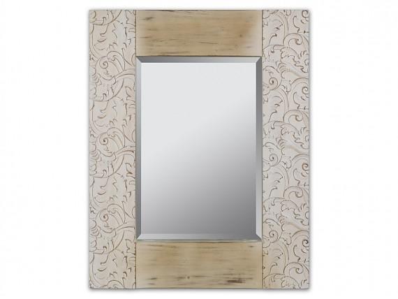 espejo vintage marco madera edn natural