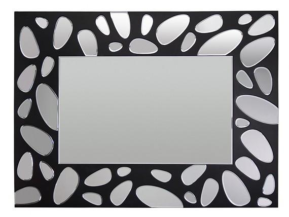 Espejo redondo de dise o con forma de flor decoraci n for Espejo marco negro