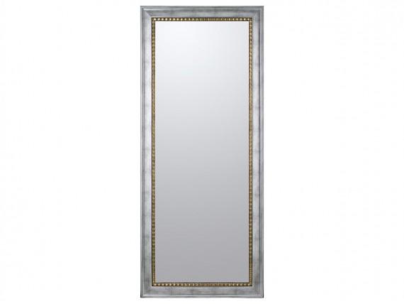 Espejo con marco lacado plateado y dorado de madera de pino for Espejos con marco color plata