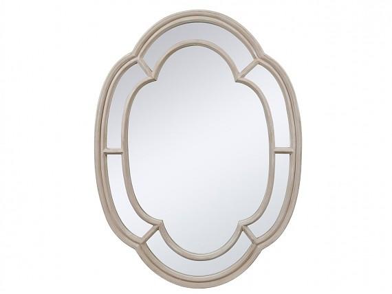 Espejo con pie estilo vintage de madera envejecida for Espejo ovalado de pie