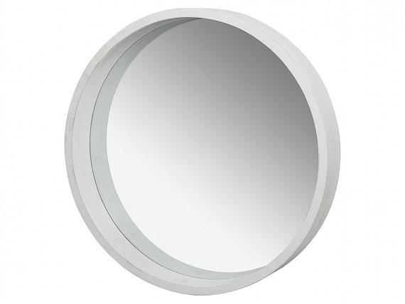 Espejos vintage de pared o de suelo con marcos decapados for Espejo redondo pequeno