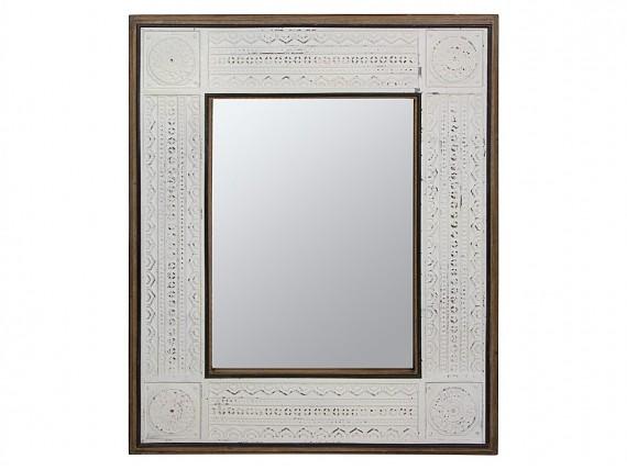 Mueble para tv de dise o moderno lacado brillo sin tiradores for Espejo blanco envejecido