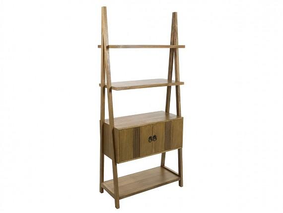 estantera con puertas de madera feng