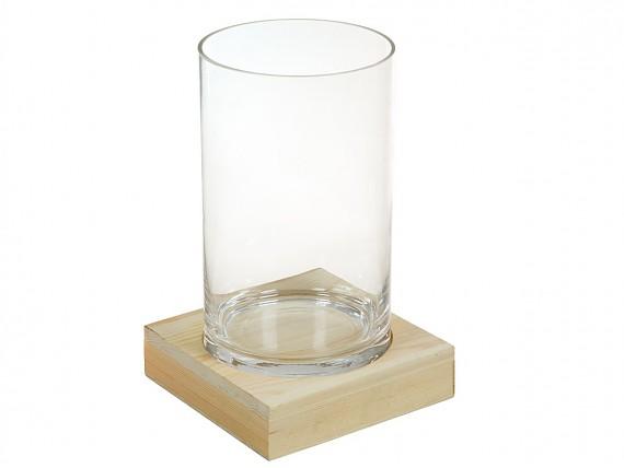 Mesa extensible blanca de cristal templado y acero for Jarron cristal