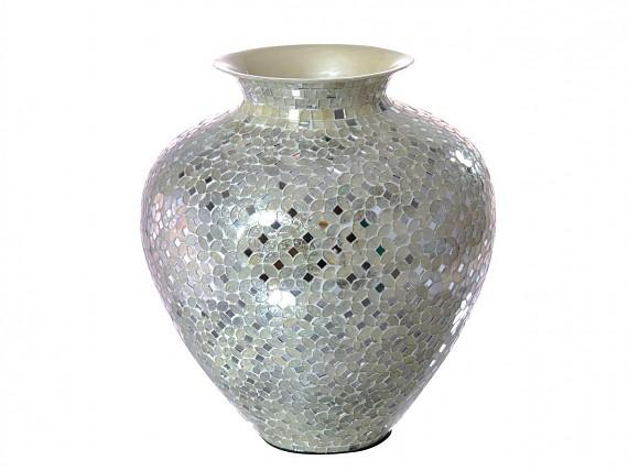 jarrn mosaico blanco cm