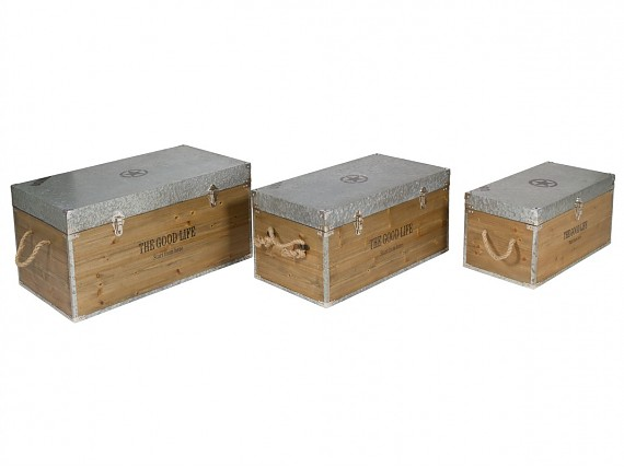 Banqueta de madera sin respaldo para interior o exterior - Baules de diseno ...
